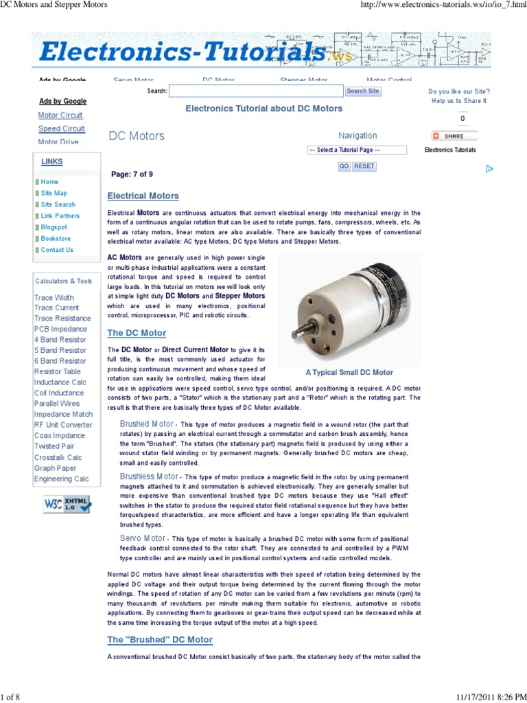 Dc Motors And Stepper Electric Motor Servomechanism Unipolar Control Circuit With Pic16f877
