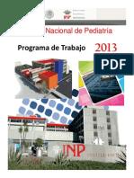 Programa de Trabajo Del Instituto Nacional de Pediatria