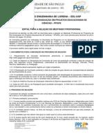 Edital mestrado USP2013