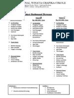 Price List Lengkap Grafika Cikole