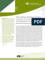Help-seeking strategies of victim/ survivors of human trafficking  involving partner migration
