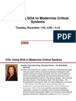 Using SOA to Modernize Critical Systems