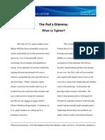 Volume 1.10 the Fed's Dilemma Sept 16 2009