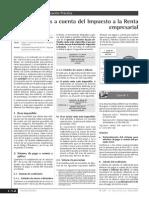 Pagos a Cuenta Del Impuesto a La Renta Empresarial (Porcentajes y Coeficientes)