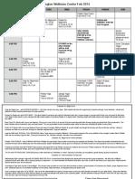 February 2014 | Class Schedule | Irvington Wellness Center