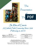 St. Rita Parish Bulletin 2/2/2014