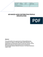 ADVANCED AUDIO DISTRIBUTION PROFILE SPECIFICATION