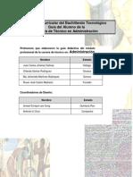 Guía del Alumno de la Carrera de Técnico en Administración