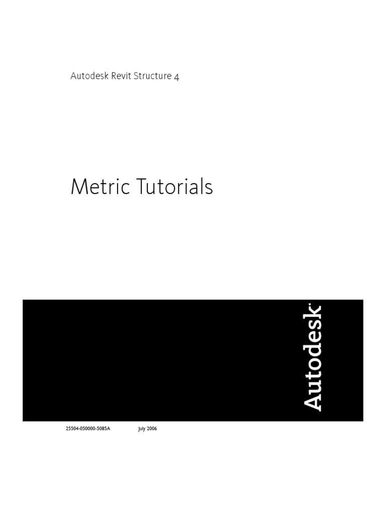 Revit Structure Metric Tutorials pdf | Autodesk Revit | Tab