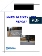 Ward 10 Bike Lanes Report