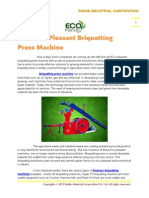 Eco Pleasant Briquetting Press Machine