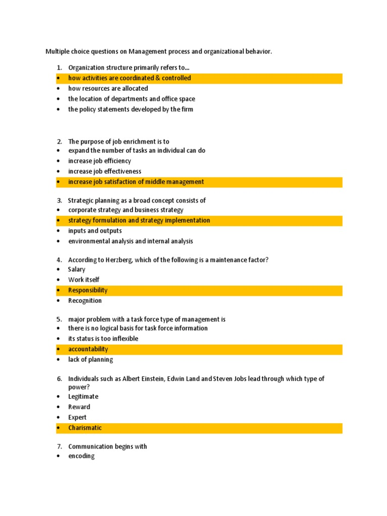 management process and organizational behavior pdf