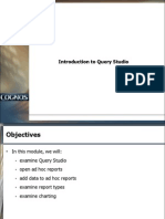 Introduction to Query Studio