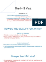 The H-3 Visa Project
