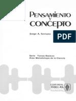 Serrano, J. Pensamiento y Concepto