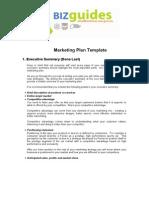 Bizguide Marketing Plan Templante