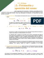 Formación y descomposición del Ozono