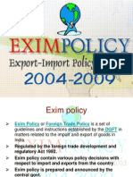Exim Policy 2004-09