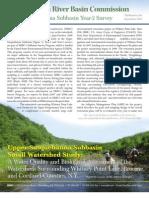Upper Susquehanna Subbasin Small Watershed Study