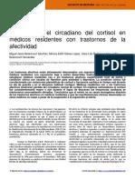 Cambios en el circadiano del cortisol en médicos residentes con trastornos de la afectividad