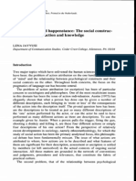 Jayyusi, L. (1993). Premeditation and Happenstance- The Social Construction of Intention, Action and Knowledge. [Article]. Human Studies, 16 (4), 435-454.
