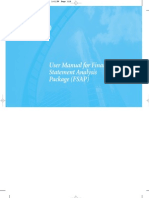 User Manual for Financial Statement Analysis Package