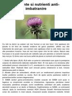 12 Plante Antiimbatranire