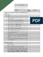 Audit Programe for Statutory Audit