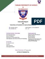 Industrial Attachment report