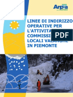 Linee Operative Commissioni Locali Valanghe