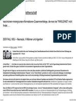 DER FALL NSU – Neonazis, V-Männer und Agenten « lupo cattivo – gegen die Weltherrschaft