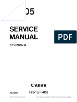 Canon iR105 Service Manual   Image Scanner   Photocopier