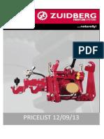 1. Zuidberg Pricelist Update September 2013