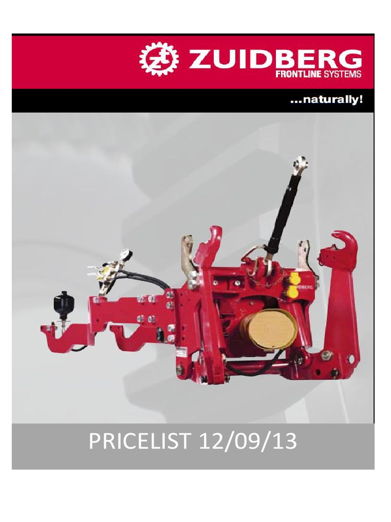 1  Zuidberg Pricelist Update September 2013 | Tractor