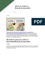 20 motivos para ser contra a descriminalização da.doc