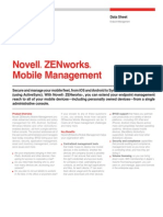 Novell ZENworks - ZMM Data Sheet