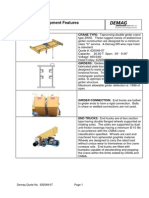 Typical EOT Crane Features