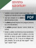 Biostatistica Medicala