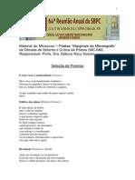 MC-046Material Minicurso SBPC (Poemas e Bibliografia) Débora Racy Soares