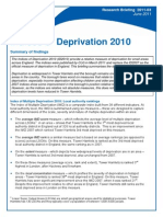 Indices of Deprivation 2011