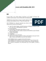 Disabilities Bill-2013