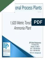1620 Metric Tons/Day Ammonia Plant