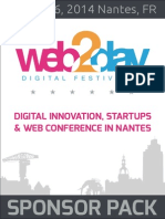 Sponsor Pack - Web2day 2014