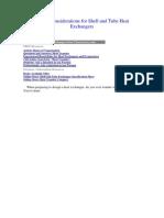 Consideraciones para el diseño de intercambiadores