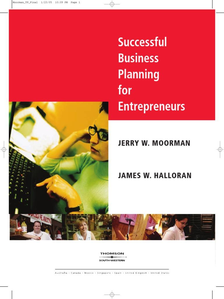 Successful Business Plan For Entrepreneurspdf