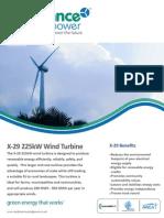 X 29 Product Brochure UK Jan 2013