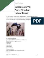 Power Window Motor Repair