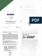Manual de Calculador FX-4800P