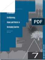 A Framework for Reforming Urban Land Policy in Developing Countries