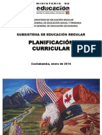 Planificacion Curricular Cbba 2014 - PRIM- SECUND